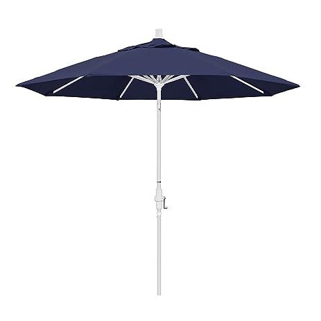 Amazon.com : California Umbrella 9\' Round Aluminum Market Umbrella ...