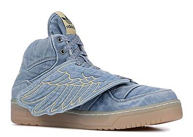 promo code c232a 5f4c7 adidas JS Wings Denim Mens Athletic Shoes V24621 Denim Blue 9 M US