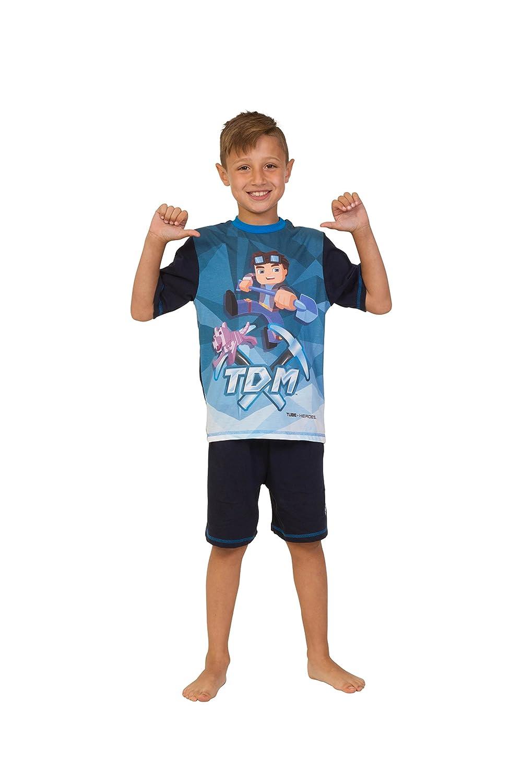 Dan TDM Boys You Tube Heroes Short Pyjamas The Diamond Minecart 7 to 13 Years