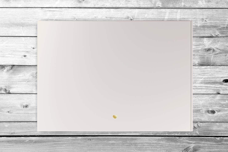 personalisiert /& veredelt 104 Seiten in A4 quer Inhalt blanko - wei/ße Seiten, beige Silber oder Kupfer Hardcover in Gold Ros/é-Gold Deluxe Hochzeitsg/ästebuch G/ästebuch zur Hochzeit