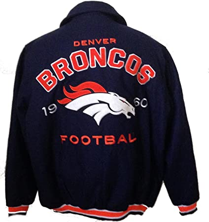80429bb52 Amazon.com   Denver Broncos wool jacket varsity style NFL coat (xxl ...