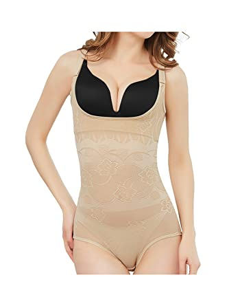 53859310c610b Lullabali Women s Seamless Body Shaper Push-up Bust Shapewear Tummy Firm  Control Underbust Bodysuit at Amazon Women s Clothing store