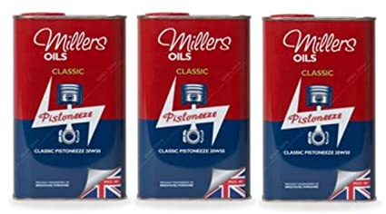 Millers Classic Pistoneeze 20w50 - Aceite Mineral para Motor, 3 ...