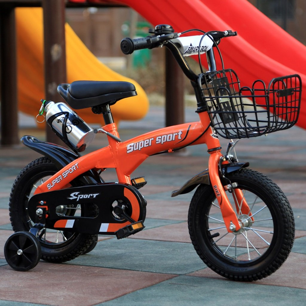 子供用自転車、オレンジオプションのフラッシュアシストホイールリアシートケトル高炭素スチールボディ丈夫で安全な子供用に設計された2-10 88-121CM (色 : B, サイズ さいず : 88CM) B07D5XZKWJ 88CM|B B 88CM