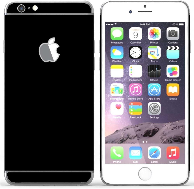 stika.co Vinilo Autoadhesivo de Color Liso, 3 Piezas de Pegatinas para Apple iPhone 6 / 6S de 4,7 Pulgadas (Negro)