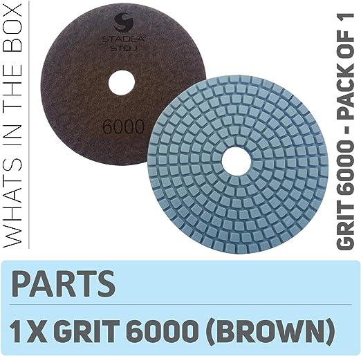 Stadea Ppw111d Diamond Polishing Pads 4 Inch For Concrete Terrazzo Marble Granite Countertop Floor Edge Wet Polishing Grit 6000