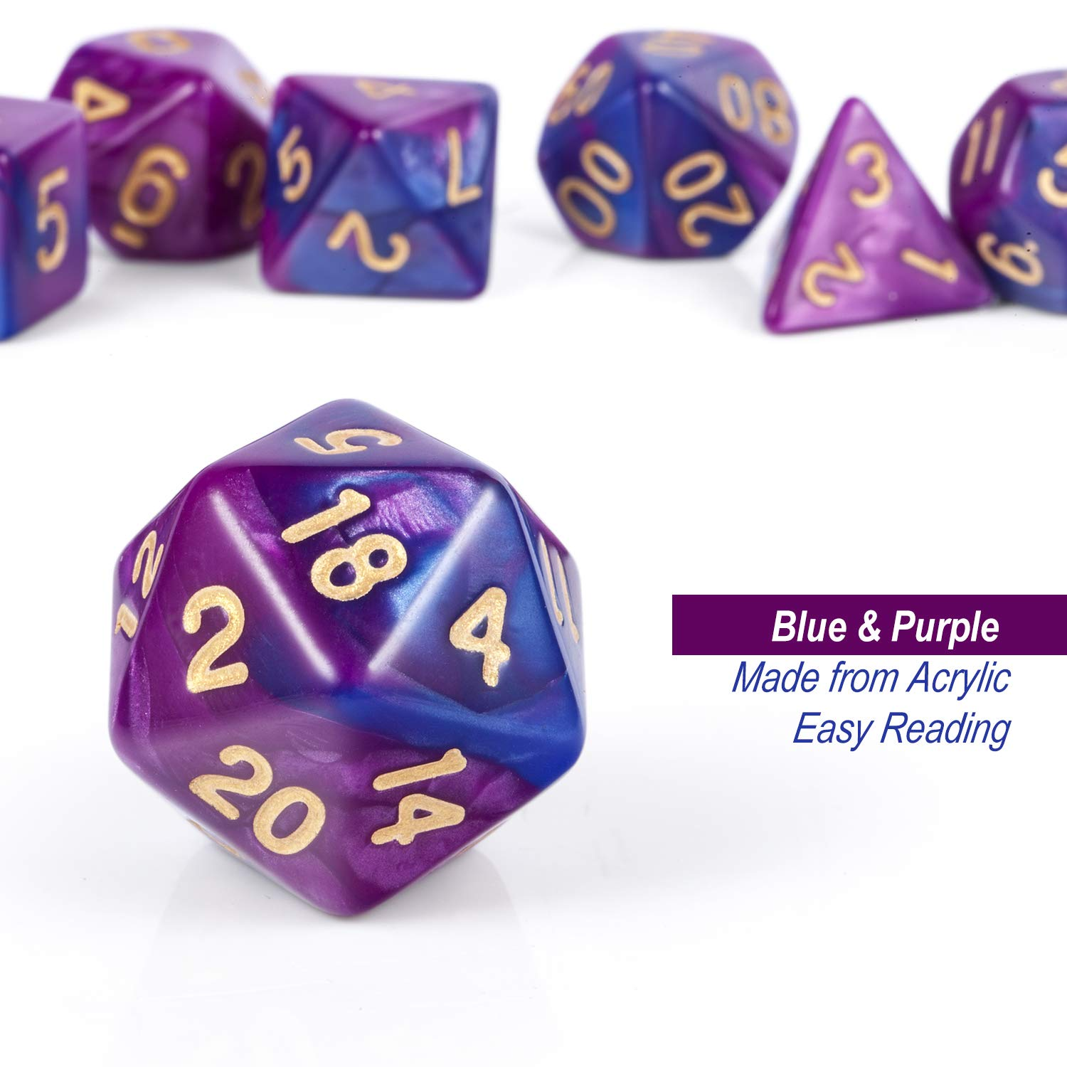 DND Dice Set,Polyhedral Dungeons and Dragons Dice with Free Pounch for Table Games Roll Playing Game Red and Black