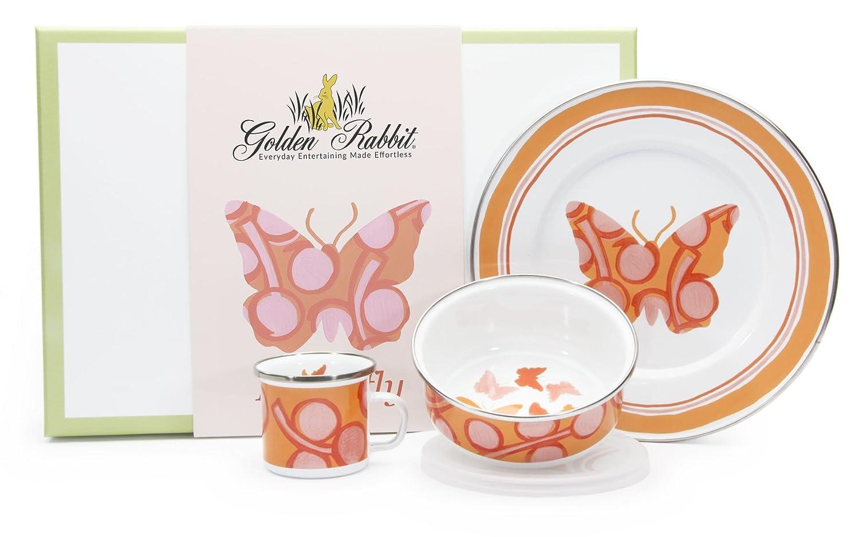 素晴らしい品質 Golden Rabbit Golden Enamelware Enamelware 3 Pc子セットバタフライギフトボックス版 3 B07BVYHHM5, 丹羽郡:1431902b --- a0267596.xsph.ru