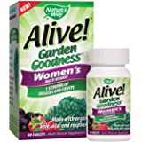Nature's Way Alive! Garden Goodness Women's Multivitamin, Veggie & Fruit Blend (1400mg per serving), Made with Organic…