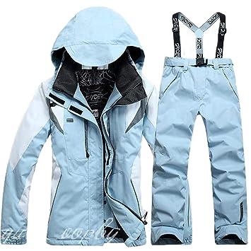 68e00dc3533a55 Ceanfly Hosenträger Skihose für Damen + Skianzug Skijacke Winddicht  Wasserdicht Atmungsaktiv Wasserabweisende Damenhose Verstellbarer Bund ...