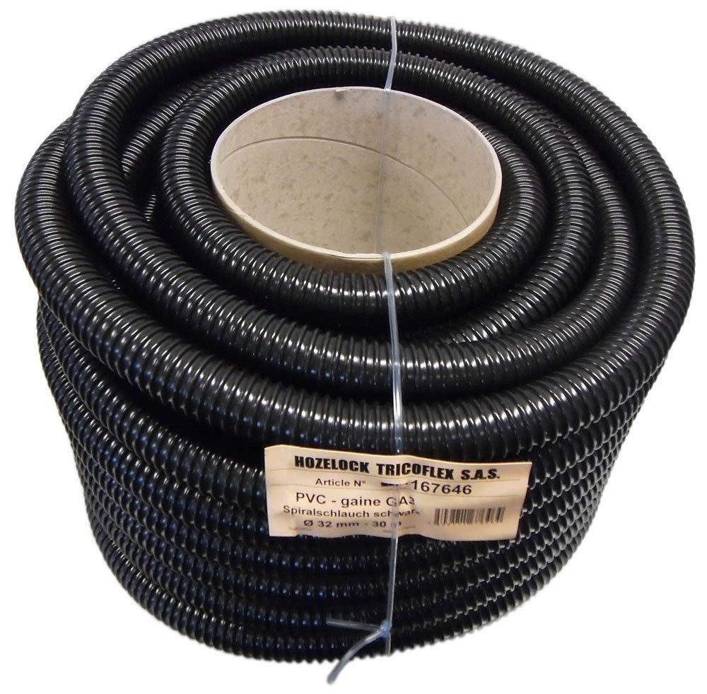 Tricoflex Wasserschlauch Teichschlauch, leicht PVC schwarz, 32 mm innen, 30 m Rolle Schwarz