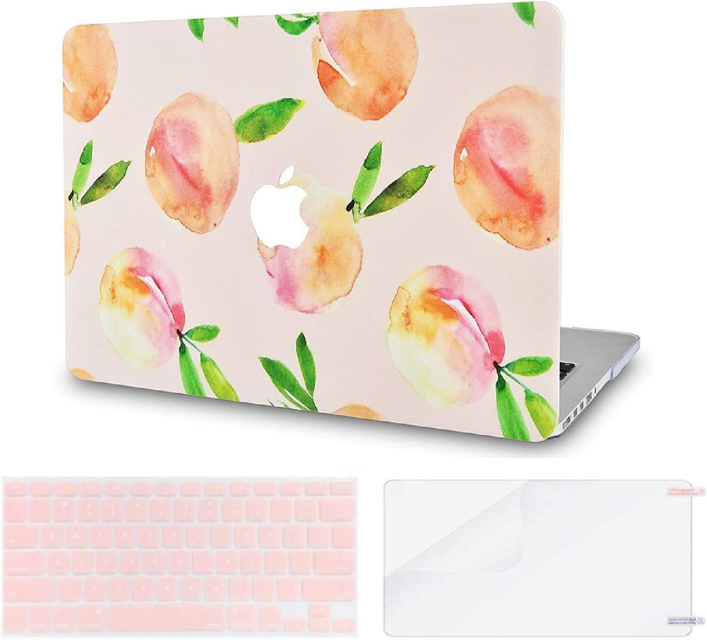 LuvCase 3 in 1 LaptopCase forMacBookPro 15 Touch Bar (2019/2018/2017/2016) A1990/A1707 HardShellCover, Keyboard Cover & Screen Protector(Orange)
