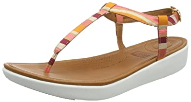 c8726c023 Fitflop Women s Tia Toe-Thong Sandals-Stripey Ankle Strap  Amazon.co ...