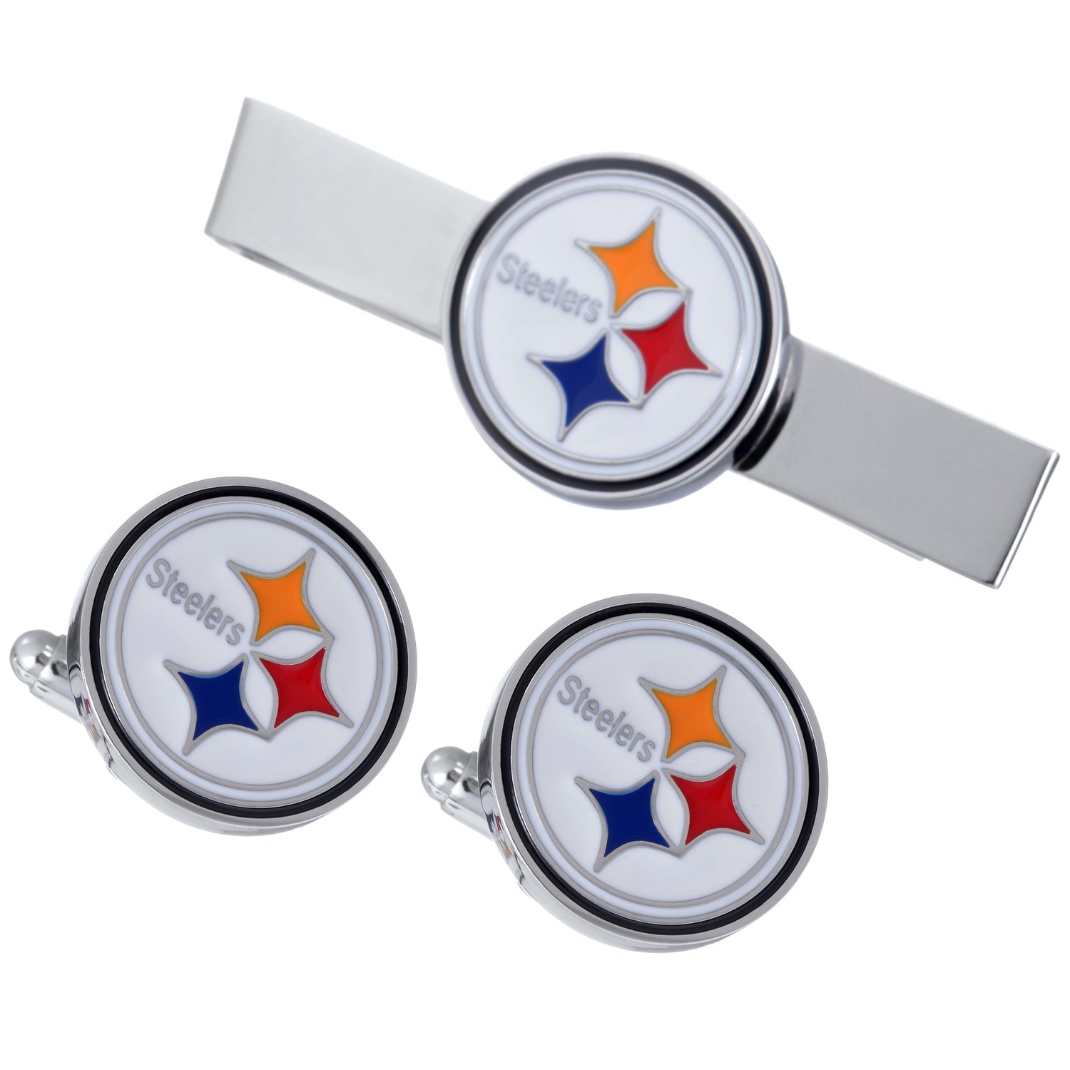 Promotioneer Men's The Team Logo Symbol Series Cufflinks and Tie Clip with Gift Box (8)