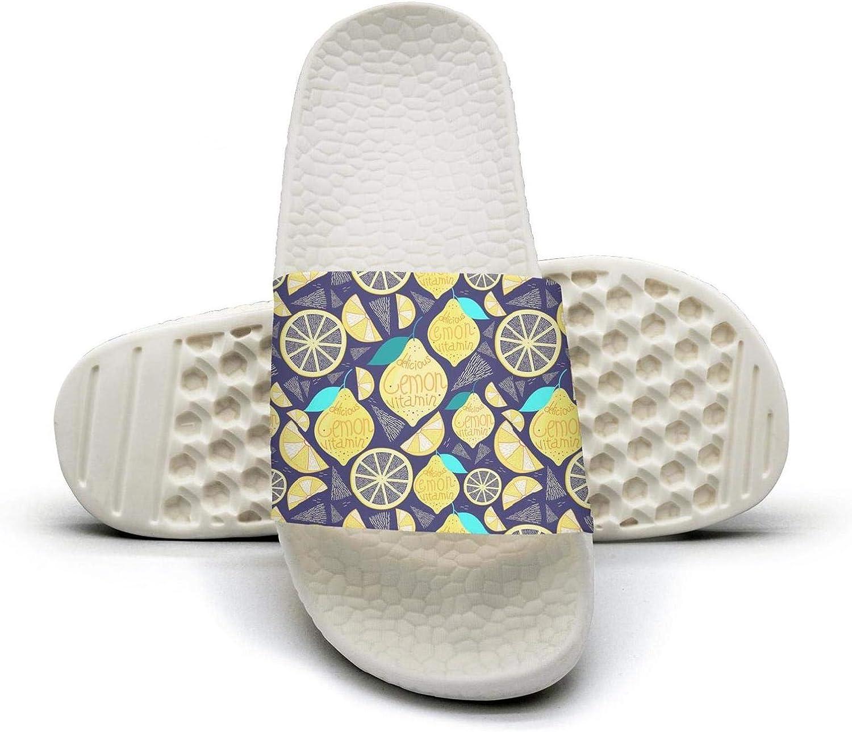 INTERESTPRINT Womens Slip-on Shoes Beach Pool Shower Slippers Household Sandals US6-US12