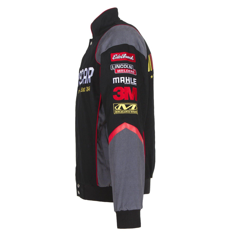 Amazon.com: 2017 Nascar Racing Generic negro sarga chamarra ...