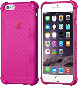 iPhone 6s Case, LUVVITT [Clear Grip] Soft Slim Flexible TPU Back Cover Transparent Rubber Case for Apple iPhone 6/iPhone 6s (4.7) Transparent Pink