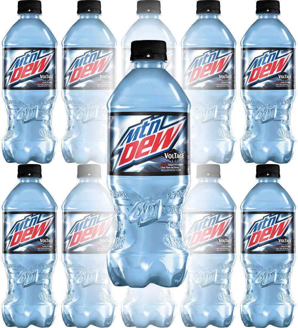 Mountain Dew Voltage, 20oz Bottle (Pack of 10, Total of 200 Fl Oz)