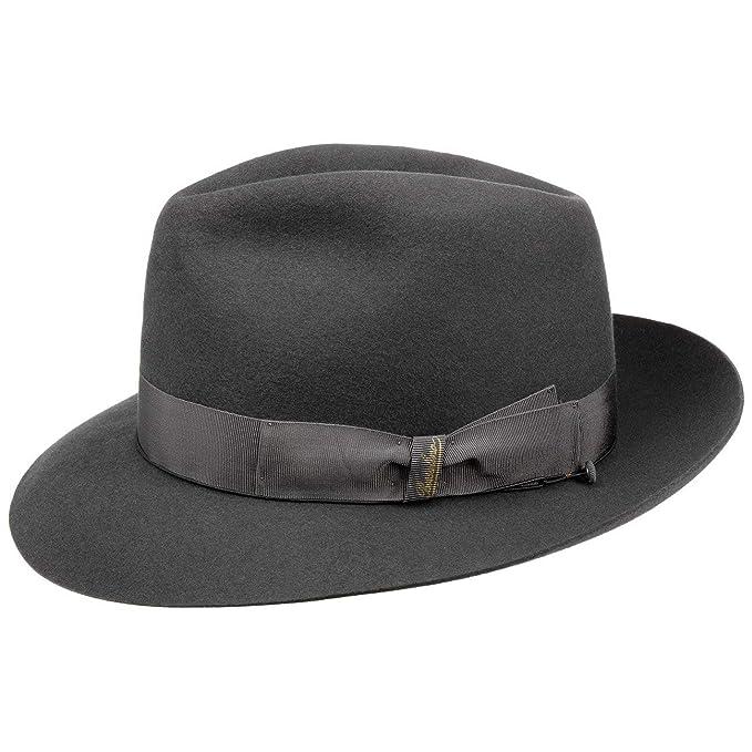 Borsalino 50 Grammi Cappello da Uomo Cappelli di Feltro Pelo 60 cm - Grigio  Scuro 9cce1db72909