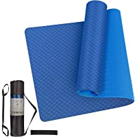 24HOCL Yoga Mat Non Slip, Eco Friendly Pro Exercise Mat with Carrying Strap Storage Bag and Knitted Headband for All…