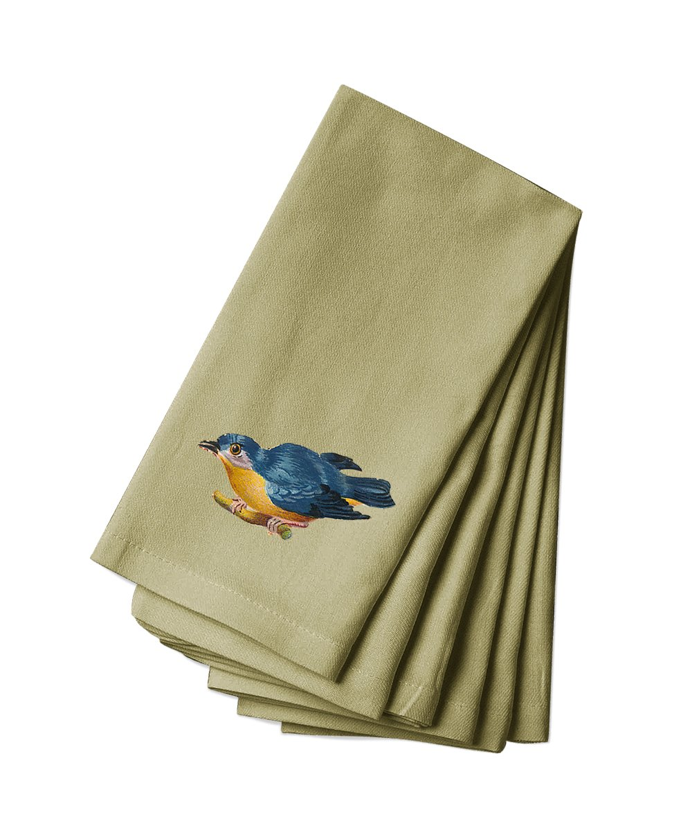 Style in Print Canvas Napkin Set Of 4 Blue And Yellow Bird Pets Animals By