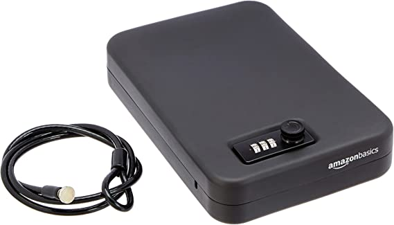 AmazonBasics Portable Security Case Lock Box Safe