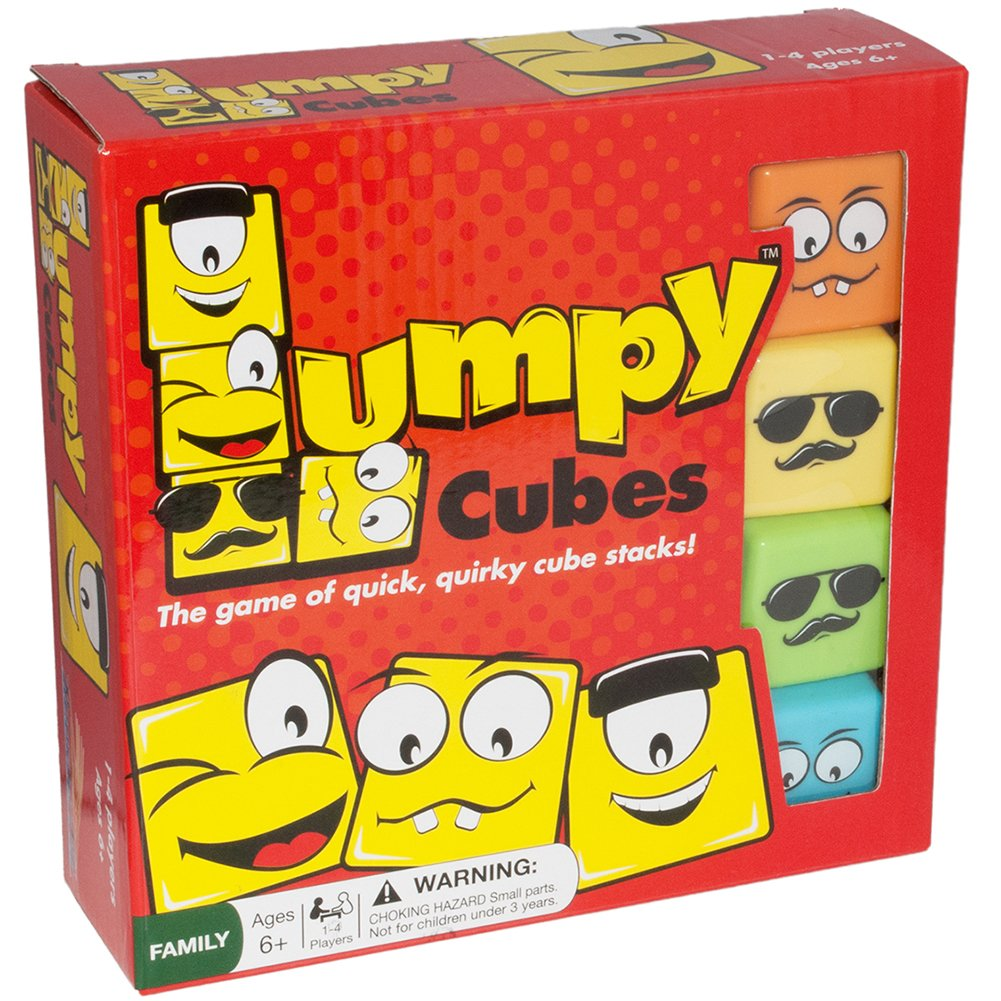 Lumpy Cubes Family Board Game - Educational Fun Stacking Toy for All Ages, Kids and Adults 6 Years and Up by RoosterFin