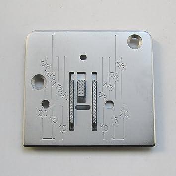 CKPSMS Marca - 1conjunto Placa de aguja y perro de alimentación encajables Ajuste para la máquina de coser Janome New ...