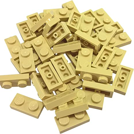 1 x 1 NEW LEGO PLATES Tan plate x 50-1x1