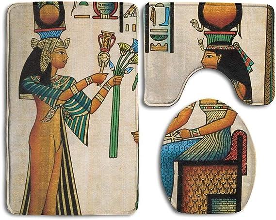 Tapete de baño Egipcio de Papyrus Egipcio con diseño de Reina ...