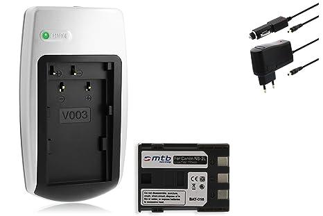 Batería + Cargador NB-2L para Canon EOS 350D, EOS 400D, EOS Digital Rebel Xti.Ver Lista!