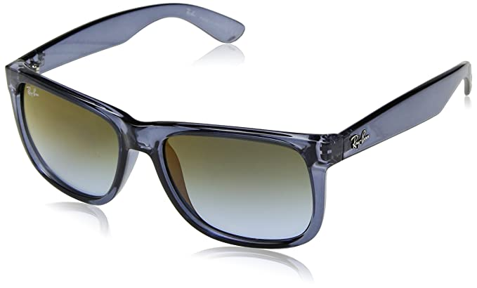 f82feb702a Ray-Ban RAYBAN Herren Sonnenbrille 0RB4165 6341T0 55 Transparent  Blue Bluegradientgreenmirrorred