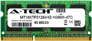 A-Tech 4GB Replacement for Micron MT16KTF51264HZ-1G6M1 - DDR3/DDR3L 1600MHz PC3-12800 Non ECC SO-DIMM 2rx8 1.35v - Single Laptop & Notebook Memory Ram Stick (MT16KTF51264HZ-1G6M1-ATC)