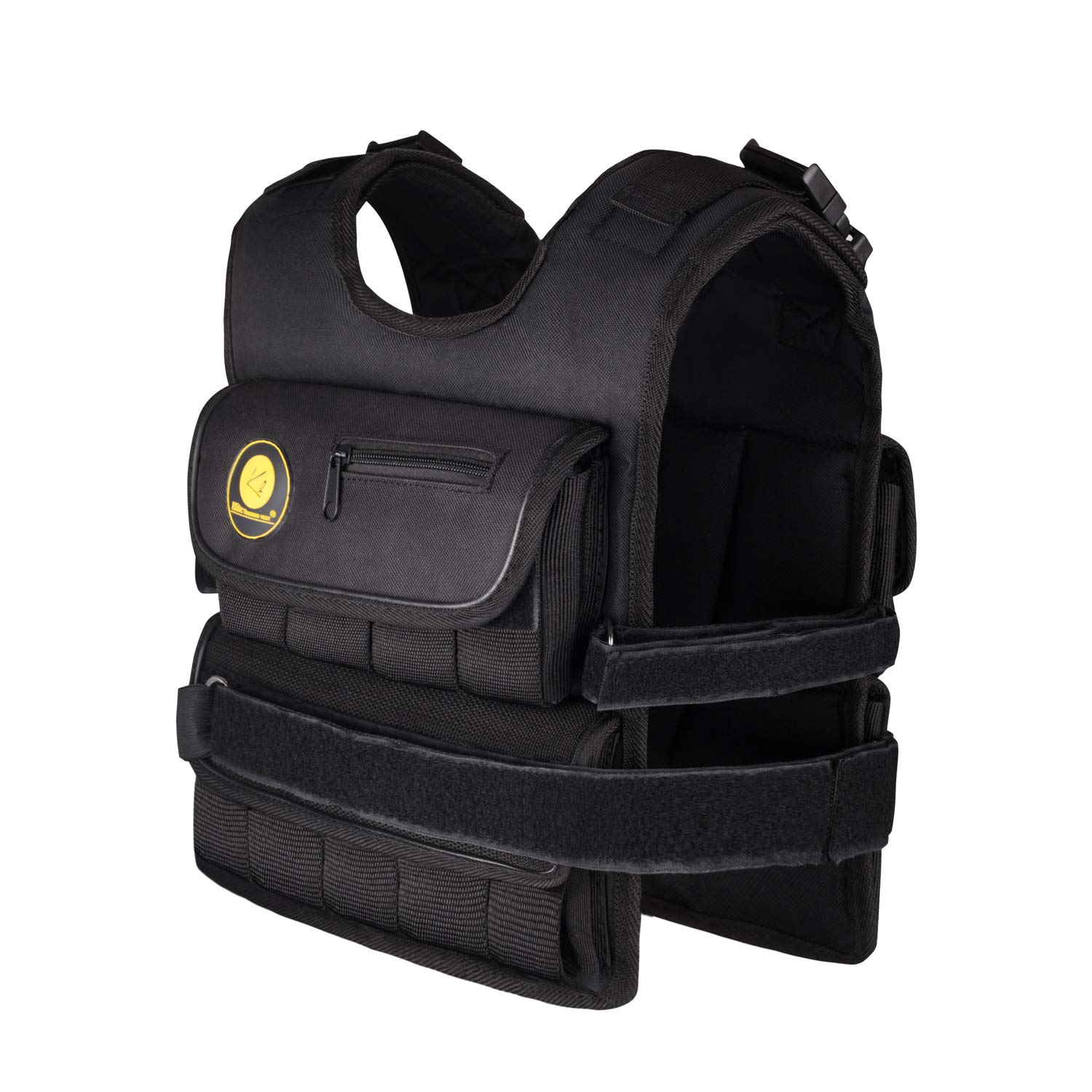 K2Elite Weighted Vest Short & Narrow Style for Men 10lbs~60lbs Adjustable Cross Training Workout Black (0 lbs)
