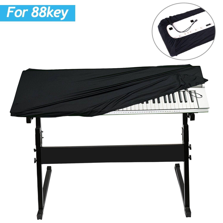 Gifort Tastiera di Pianoforte per 88 Tasti-Tastiera, Copertura Antipolvere Copertina del pianoforte Nero