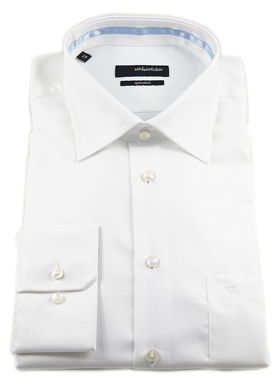 Seidensticker Men's Plain Classic Formal Shirt green Gr眉n One size