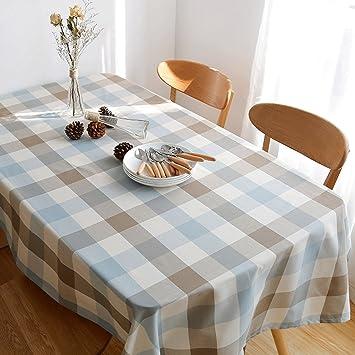 Schön Lovely Gitter Wasserdichte Baumwolle U0026 Leinen Square Tischdecke Wachstuch  Restaurant Wohnzimmer Tischdecke (Color : B