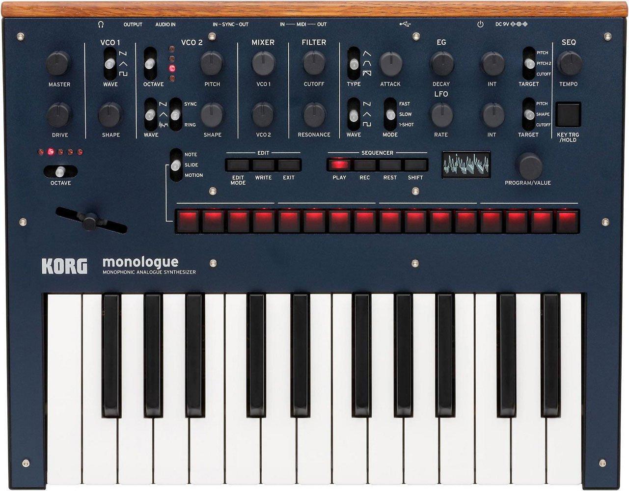 KORG Monologue 25-Key Compact Monophonic Analog Synthesizer - Blue by Korg