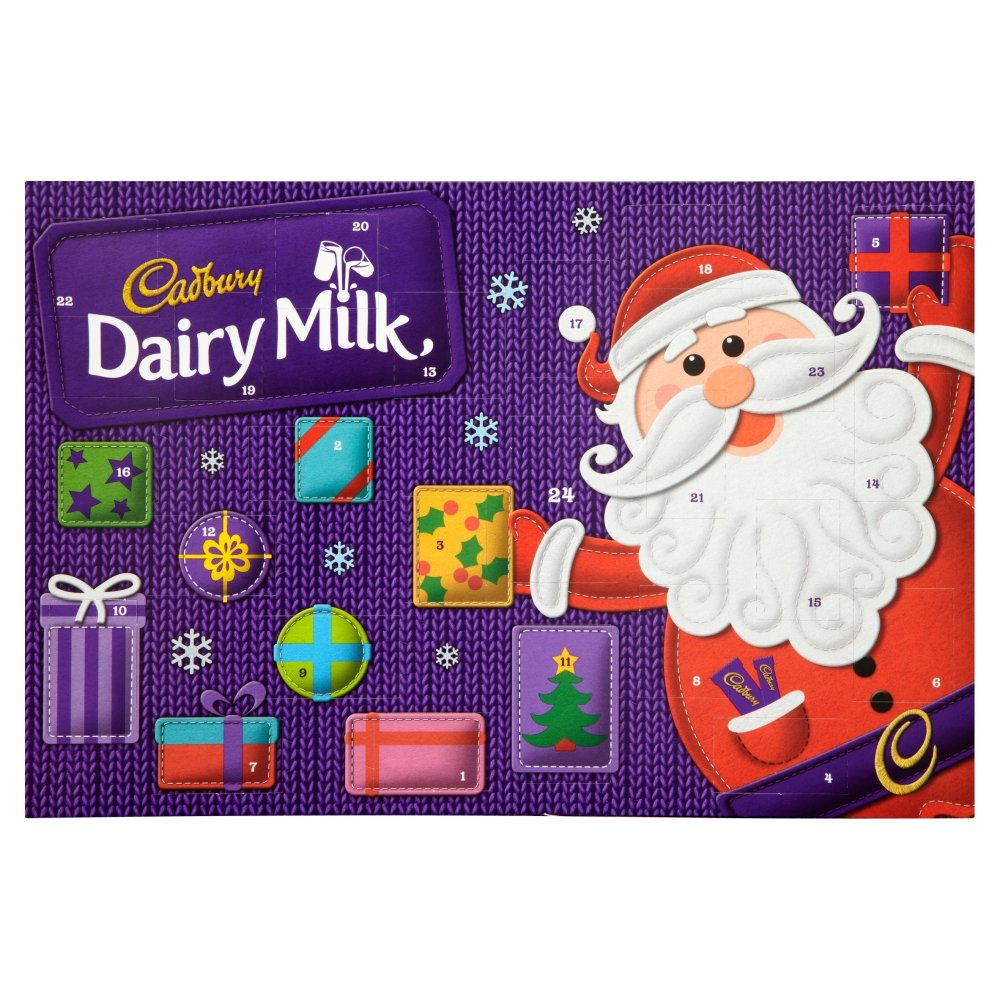 Cadbury Dairy Milk Advent Calendar Chocolate, 200g: Amazon.co.uk ...