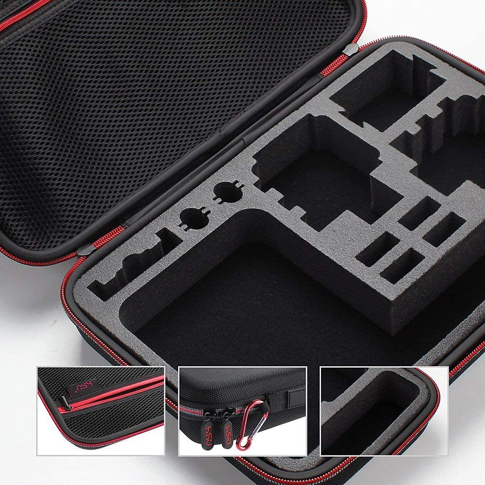 4 2018 3+ 3,Hero Small Size Red HSU Carrying Case for Action Cameras and GoPro Accessories Small Case for GoPro Hero 8,7 Black,6,5