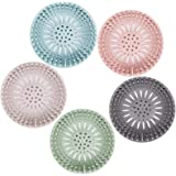 Hair Catcher Durable Silicone Hair Stopper Shower Drain Covers Easy to Install and Clean Suit for Bathroom Bathtub and Kitche