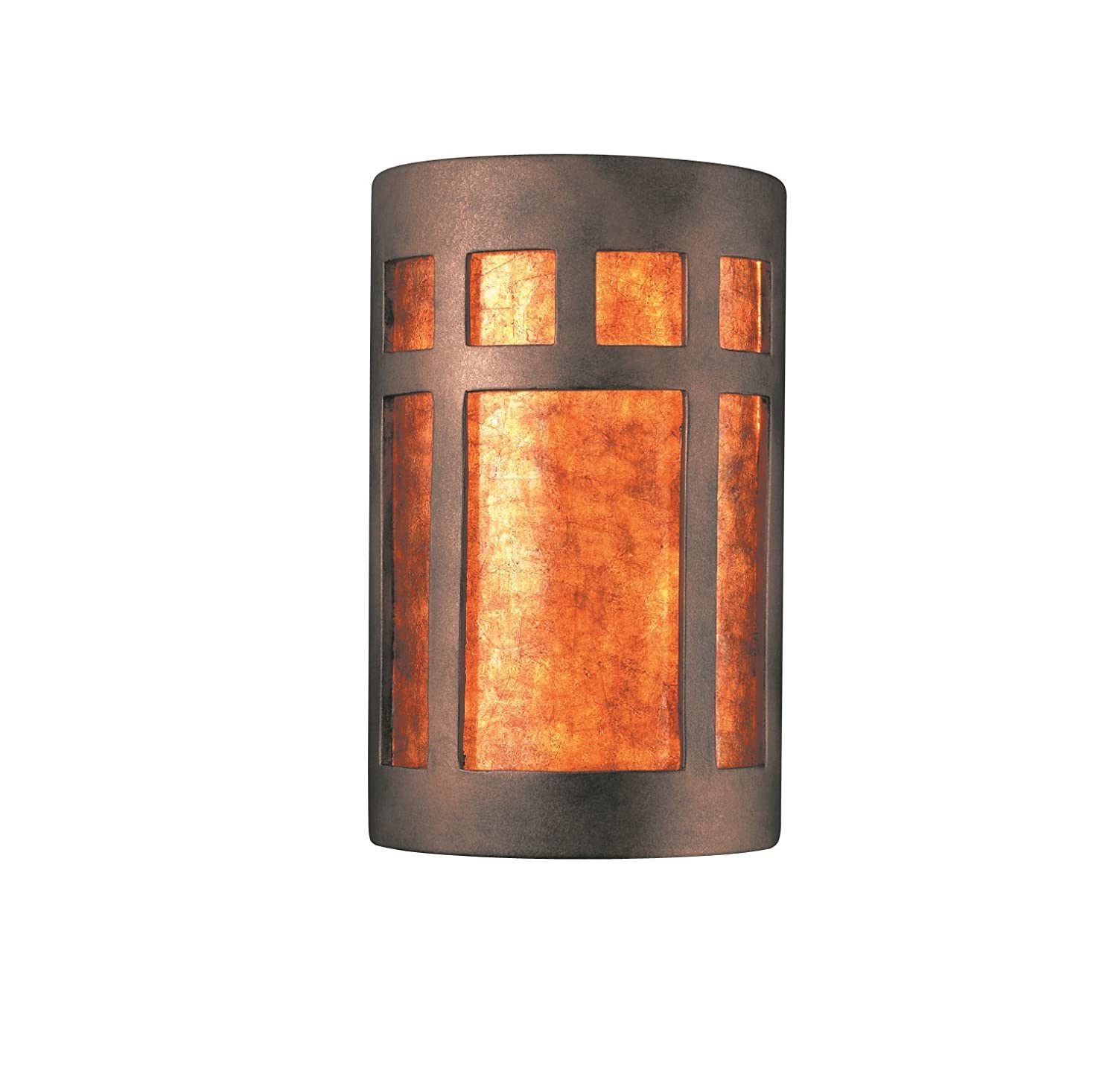 White Justice Design Group Lighting CER-7355-BIS Wall Sconce with Ceramic Bisque Shades