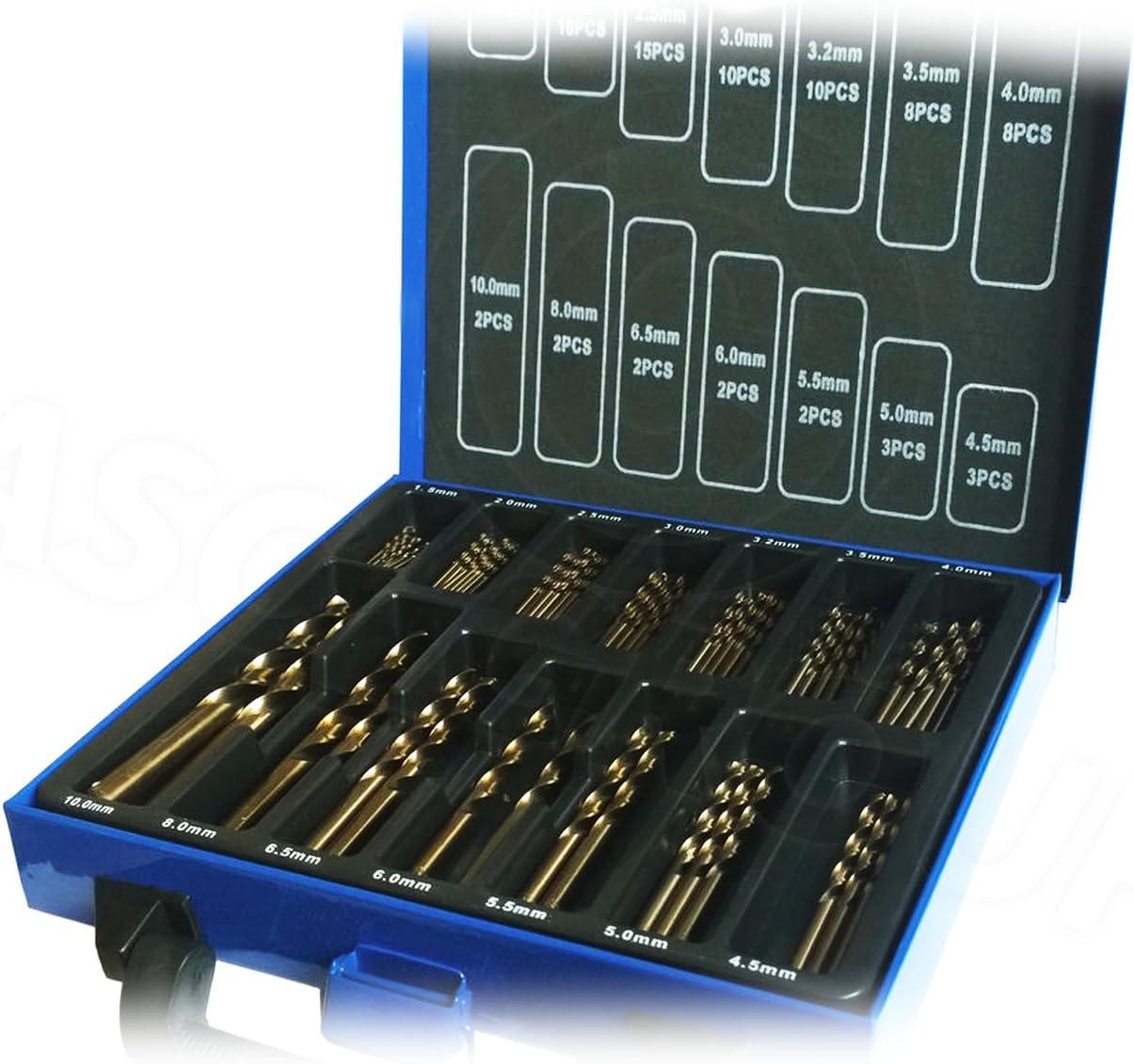 99pc Broca de Cobalto Set ( Hss-Co/Inox ) HSS Metal - Diseñado para Acero Inoxidable