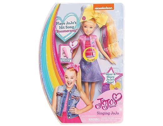Amazon.com: JoJo Siwa Singing Doll 10 With Bow Bow Plush Dog (Pink ...