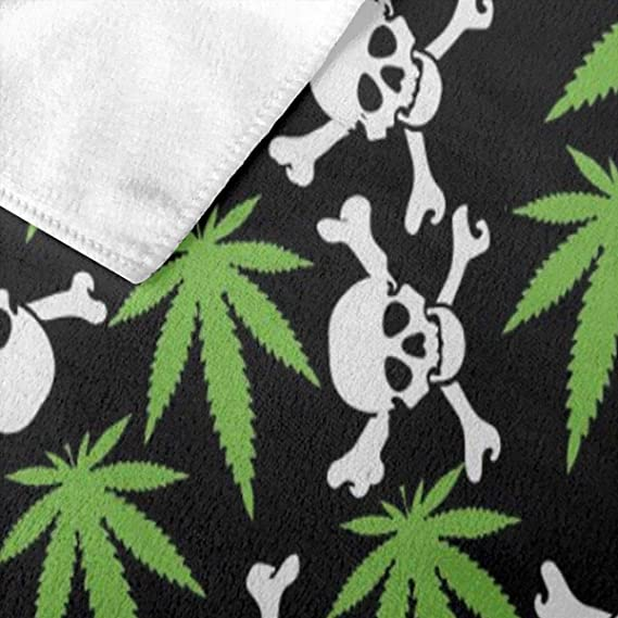 SMOKE WEED MARIJUANA Cannabis Beach Bath POOL GYM PARTY Towel HAPPY HIGH 30x60