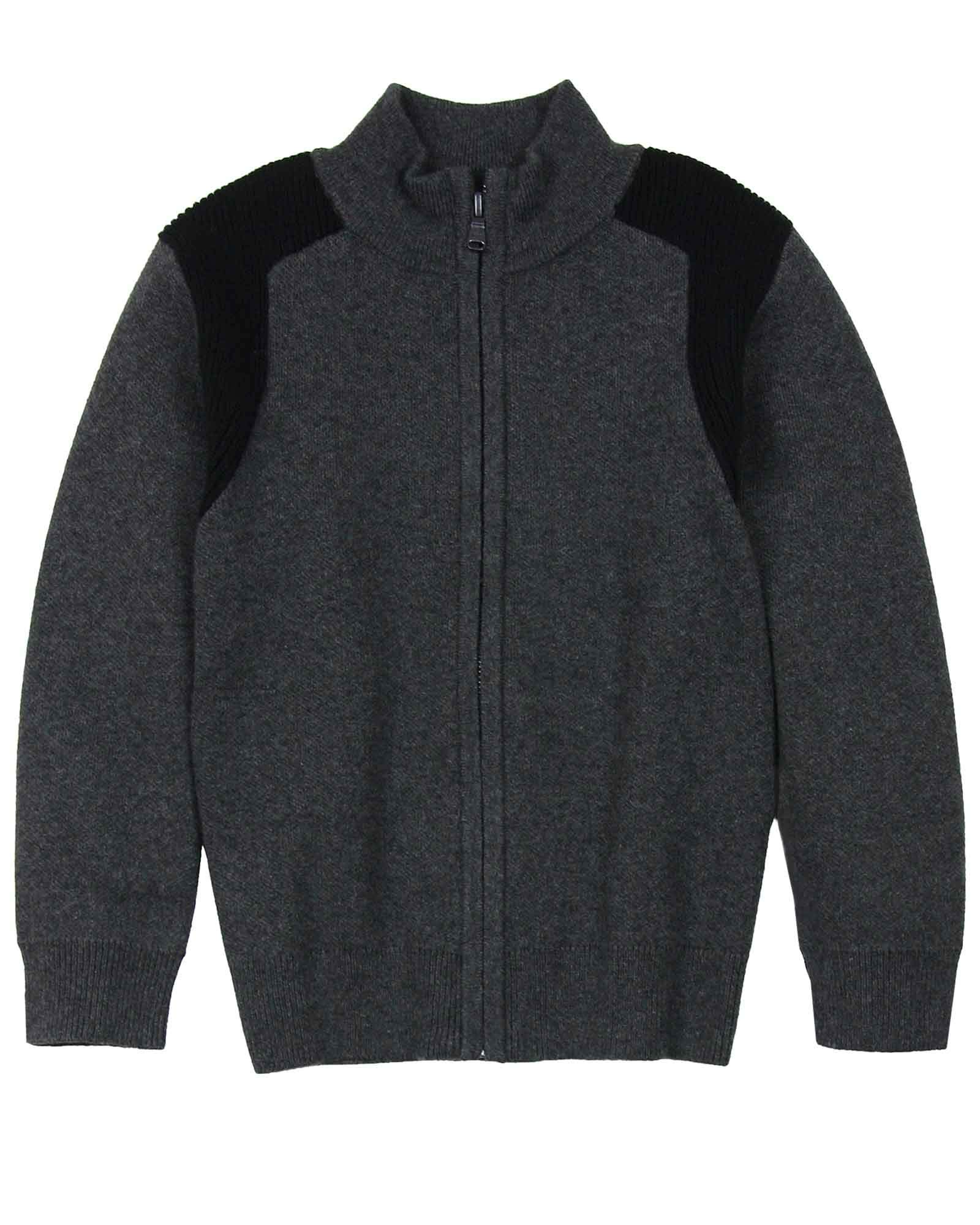 BOSS Boys Cotton/Wool Knit Cardigan, Sizes 6-16 - 14