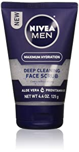 NIVEA FOR MEN Original, Deep Cleaning Face Scrub 4.4 oz (Pack of 2)