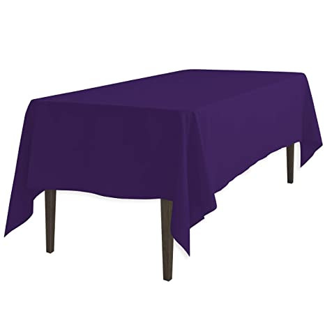 LinenTablecloth 60 X 102 Inch Rectangular Polyester Tablecloth Purple