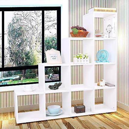 Yosoo Libreria di Design in legno ,Scaffale Mensole Scaffalature di ...