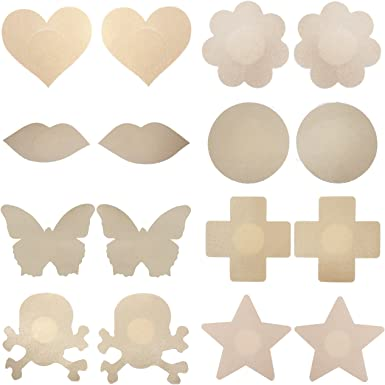 Mix 8 Pairs Women Disposable Pasties Nipple Cover Lingerie Sticker